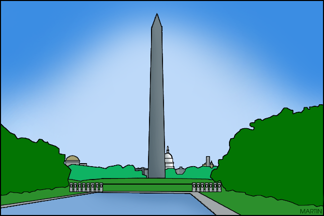 united states clip art by phillip martin famous locations in rh states phillipmartin info washington monument clipart Skeleton Clip Art
