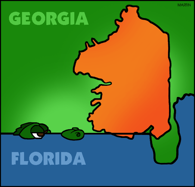 United States Clip Art By Phillip Martin Famous Landmarks From - Us map with famous landmarks