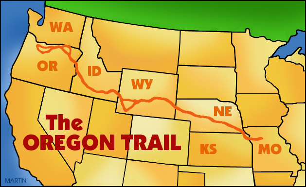 United states clip art by phillip martin famous landmarks from famous landmarks from idaho oregon trail publicscrutiny Image collections
