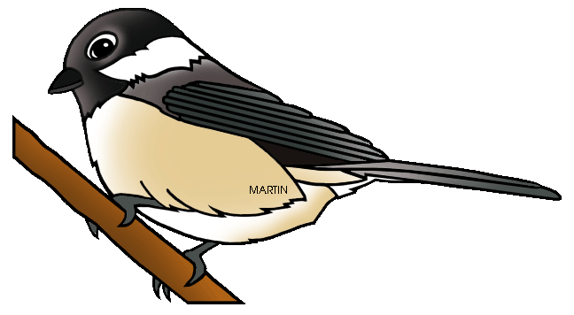 united states clip art by phillip martin state bird of maine rh states phillipmartin info  chickadee clipart black and white