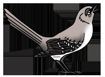 united states clip art by phillip martin tennessee state bird rh states phillipmartin info  mockingbird clipart images