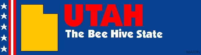 United States Clip Art by Phillip Martin, Utah - The Beehive State