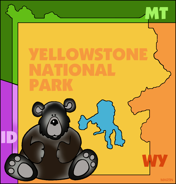 United States Clip Art By Phillip Martin Famous Landmarks Of - Us map with famous landmarks